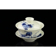 Ensemble de tasse de thé à thé Blue Lotus Bone China Dinner