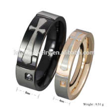 Cheap factory price cross couple ring, couple rings for valentines day, cute couple rings