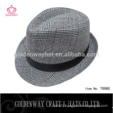 Custom made cheap mens fedora party hat