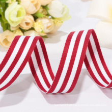 Hochwertiges rotes und weißes Band, gesponnenes Band, Polyesterband
