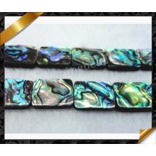 Abalone Shell Jewelry Beads, Flat Rectangle Abalone Jewelry Natural Gemstone Bead (APS024)