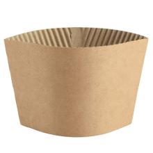 benutzerdefiniertes Logo Flexodruck Typ Form Kraftpapier Kaffeehalter Heißgetränk Tasse Hülle