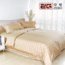 Luxury Different Color Available Stripe Fabric Wholesale Hotel Bedroom Set