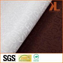 Polyester Quality Jacquard Letters Design Wide Width Table Cloth