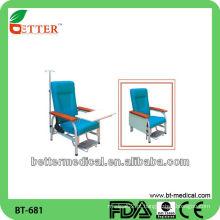 Cadeira médica de aço / cadeira de infusão médica