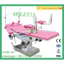 MSLET13M Lit de livraison obstétrique à lit multifonction de haute qualité avec CE & ISO