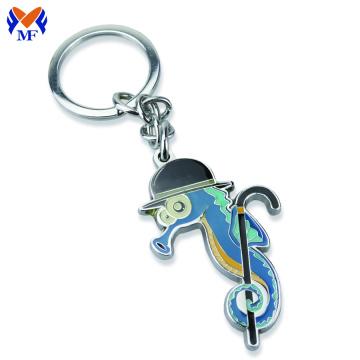 Chaveiro de metal golfinho animal com recorte personalizado