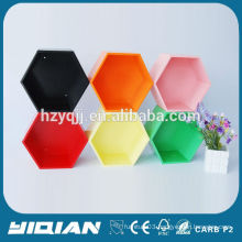Hexagon Wall Decorative Shelf Modern Colorful Cube Shelf