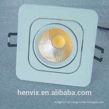 Gimbal retangular branco quente led downlight ce