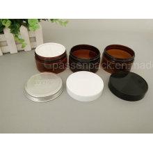 Frasco plástico do creme cosmético na cor ambarina transparente (PPC-ATC-0107)