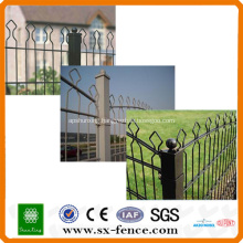 double wire mesh arch top fence