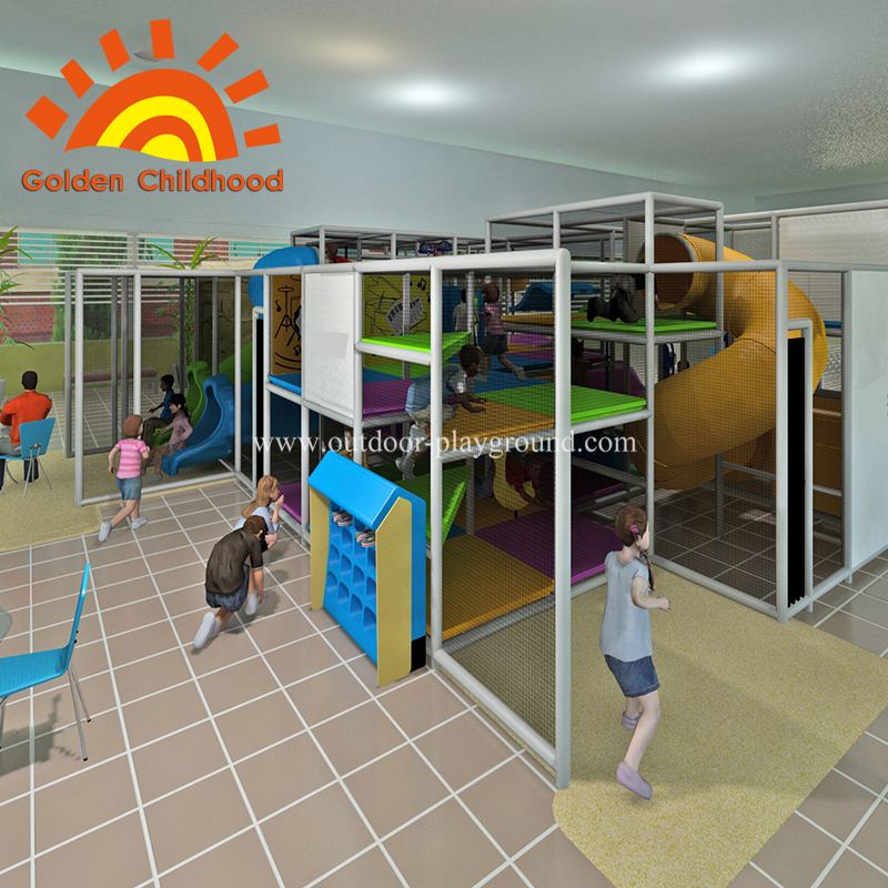 Indoor children large pipeline playground for kids