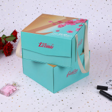 Luxury Cosmetic Packaging Magnet Box with Ribbon Handle
