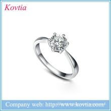Cercle de mariage en argent sterling 925 en argent sterling et flèches en anneaux de mariage en zircon pour la mariée