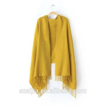 Fashion novo design sólido acrílico pashmina lenço / xaile