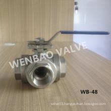 Three Way T-Port Stainless Steel CF8m Ball Valve