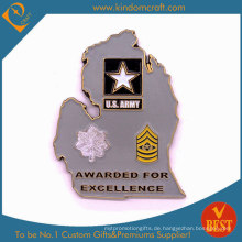 Benutzerdefinierte 2D Army Awards Metallmünzen der personalisierten Ehre (LN-076)
