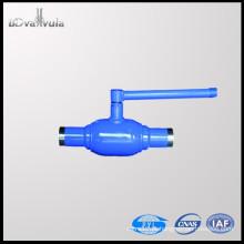 Válvula de esfera de soldadura DN50 Válvula de esfera DIN normal PN25 PN40 Fabricante