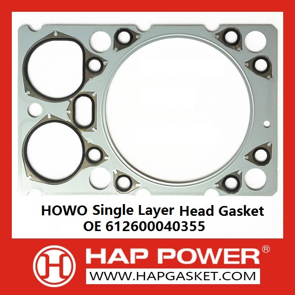 HAP-HD-021 HOWO Single layer Head Gasket, 612600040355