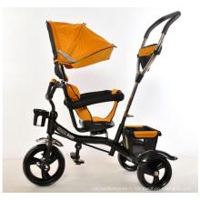 Baby Tricycle 4 en 1 Kids Trike avec couvercle pliable