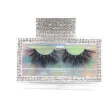 MH01F Hitomi eyelash vendor customized boxes mink eyelash wholesale price Fluffy real 25mm mink eyelashes