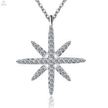 Personalisierte Pure Silver Star Halskette 925 Sterling