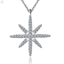 Colar de Prata Pura Personalizado com Estrela 925 Sterling