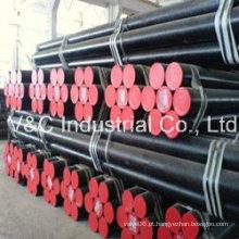 Tubo de aço carbono sem costura e soldado