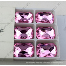 Perles de cristal de forme octogone pour la décoration de mariage