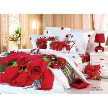 100% algodão tecido casamento uso de luxo 3D edredão cobrir conjuntos de cama de fornecedores da China