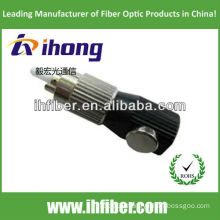 FC bare fiber adapter round type with metal housing