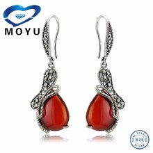 2015 Vintage hot silver 925 heart earring sterling silver earring Thai silver earring wholesale