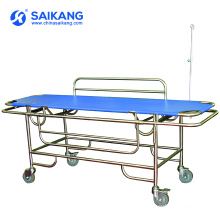 SKB037(A) Stainless Steel Metal Frame Patient Transport Trolley