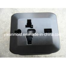 Molde de injeção plástica soquete caso/tampa