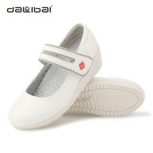work shoes in hospital,white genuine leather hospital nursing shoes