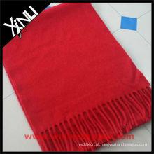 Caxemira de Cachecol Vermelho de Lã 100%