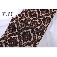 2017 flores grandes de Brown de la tela de Chenille de la tela del telar jacquar hechas en manufactura china