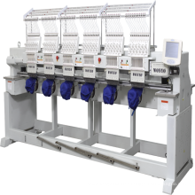 High Speed 6 Heads Cap Embroidery Machine 12 needles