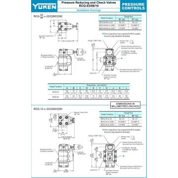 Yuken Series RCT-03/06/10  Hydraulic Pressure Reducing Valve