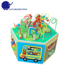 Educational Multi-function 6 in 1 Large Wooden Super Baby Activity Center
