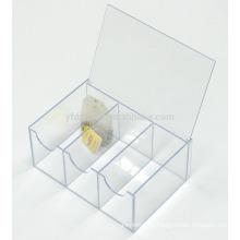 Maßgeschneiderte Transparent klaren Acryl Verpackung Teedose