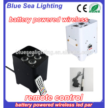 Manufacturer Direct Sale 4pcs 18W rgbwa uv 6in1 dmx LEDs wireless par