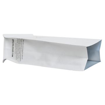 Пластиковый замок на молнии Пустой пакет для чая Пакет для чая Бумажный пакет из крафт-бумаги Сумка с плоским дном