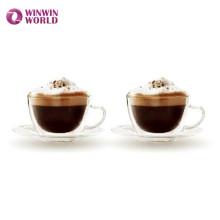 Amazon Gift Double Wall Borosilicate Glass Coffee Sets Tea Set For Coffee Tea Espresso