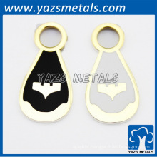 2014 fashionable metall pendant with enamel color finished for handbags