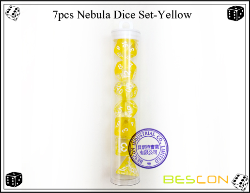 7pcs Nebula Dice Set-Yellow-3