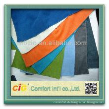 Mode ziemlich elegante Ningbo Hersteller Heimtextilien aus Polyester hell Frottee Farbe Stoff für sofa