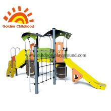 Playground climbing wall panels cargo net