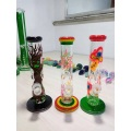 Mini bongs de tubo recto de vidrio de labios ricos de 5 mm