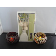 Vanille Aroma Reed Diffuser + Mosaic Candle Holder